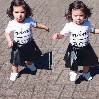 2364fc0b04d Wholesale Hot 2018 Toddler Girls 2pcs Fashion New Skirt Clothes Outfits