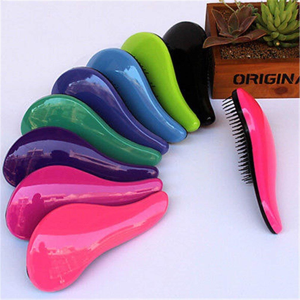 ac0530b34 Get Quotations · Magic Handle Tangle Detangling Comb Shower Hair Brush  Styling Tamer Tool 7 Colors