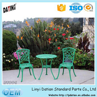 green bistro set with bamboo style use for park decoration