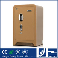 Champagne gold optional size digital electronic burglar resistant hotel safe deposit box steel plate fireproof media safe