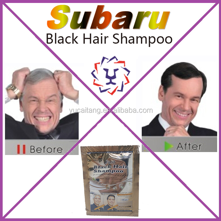 Herbal non-toxic subaru black hair shampoo for white hair