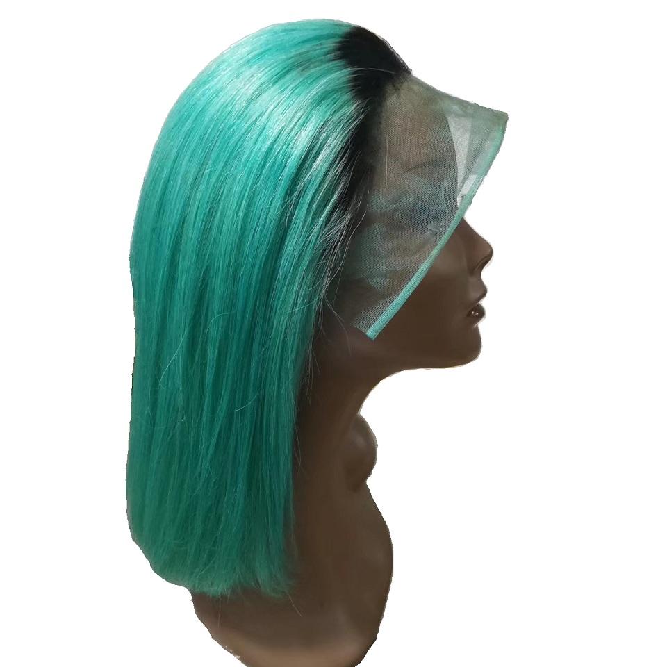 Private Label Made In America Elva Pixie Two Tone Irish Dance Royal Custom Brazilian Human Hair Blend Wigs Full Lace Short Bob Buy Brazilian Hair Wigs Full Lace Two Tone Human Hair
