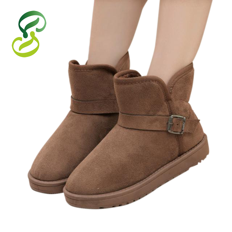 New 2015 Fashion Lovers Warm Ankle Boots Women Boots Snow Boots And Autumn Winter Men Shoes With Buckle