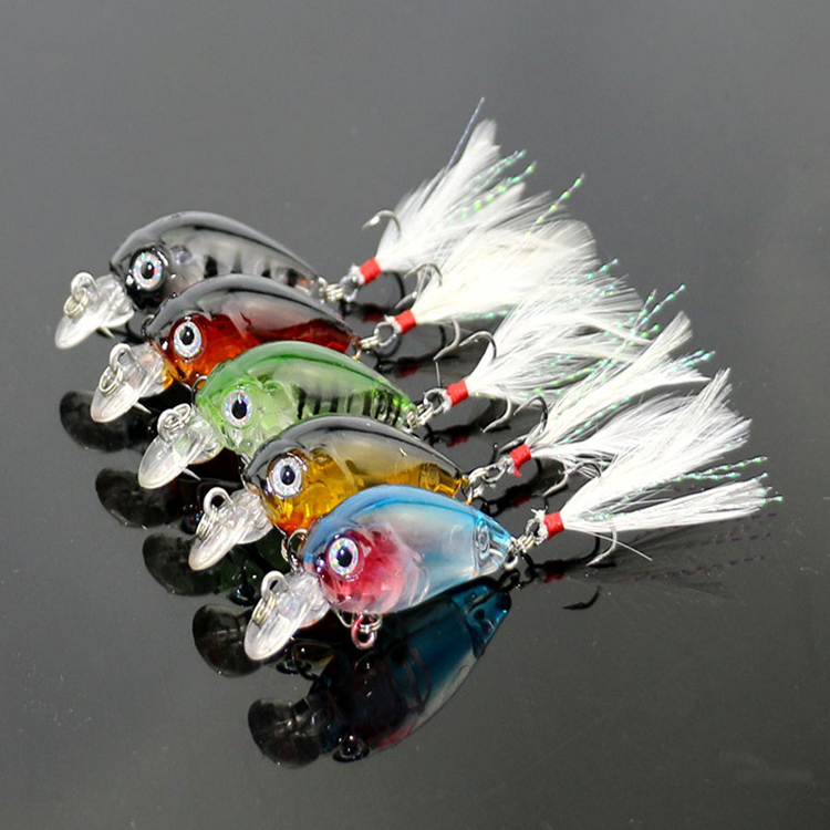 Five color mini Crystal <strong>fishing</strong> lure lovely bait <strong>fishing</strong> hook
