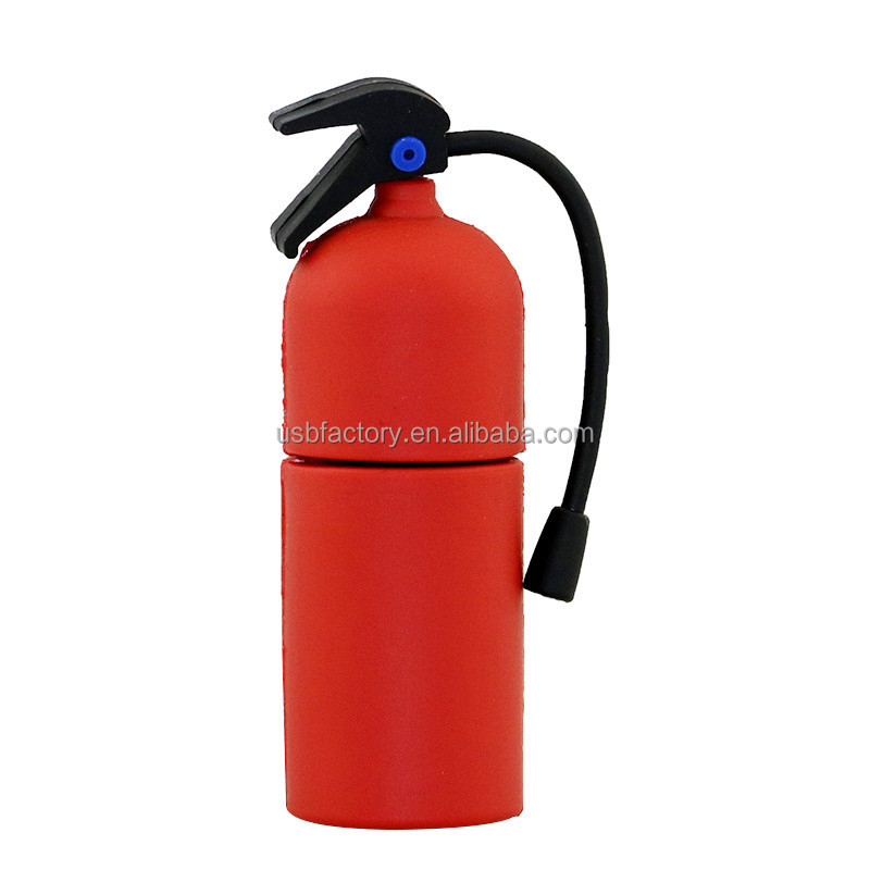 64GB Novelty Red Fire Extinguisher Shaped High Speed USB Flash Thumb Drive Memory Stick