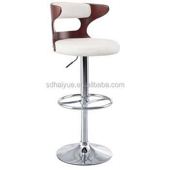 Wooden Bar Furniture Swivel High Stool Chair Kitchen For Indoor