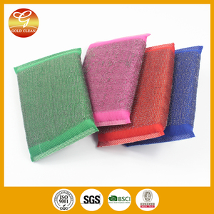 Stainless steel wire cloth scouring pad