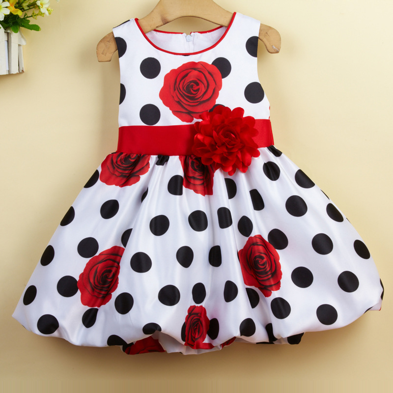 c5817f0cf1b7 Wholesale Infant Toddler Baptism Dress Lantern Skirt High Waist Rose ...