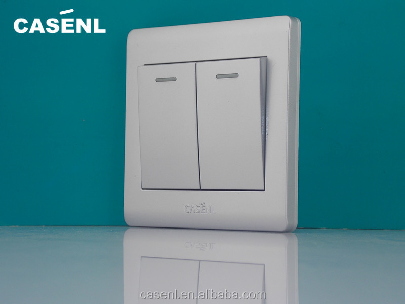 Silver Color Modern Electric Wall Switch/foshan Power Switch - Buy ...