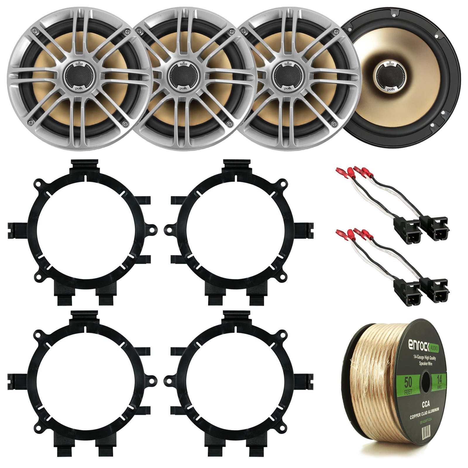 Cheap 4x12 Speaker Find Deals On Line At Alibabacom Metra Wiring Harness Gauge Get Quotations 2 X Polk Audio Db651s 65 180w Car Marine Coaxial System