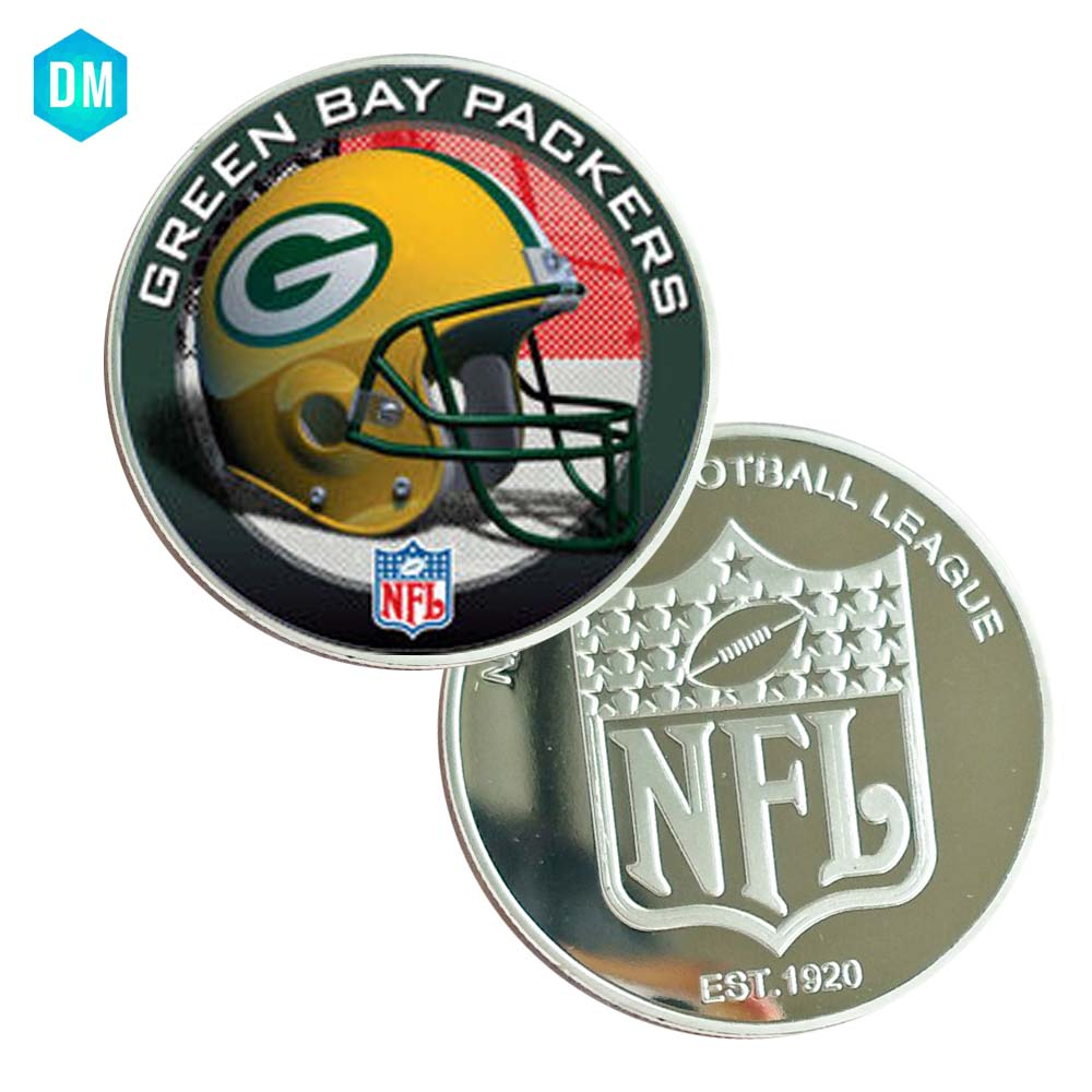 7642d50d Collectible Souvenir Gifts GREEN BAY PACKERS 999.9 Silver Plated Metal Coin  NFL Challenge Coin Art Ornament
