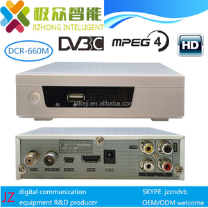 Dexin cas Abv CAS High security DVBC MPEG4 STB DCR660M dvbc set top box
