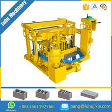 QMY4-30A Semi-auto hand operated diesel engine concrete brick block making machine maker