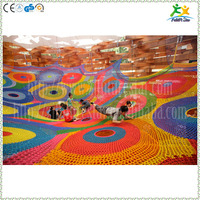 Creative colorful nylon rope hand-knitted kids play park games