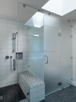 Tempered Glass Rectangle Shower Door With Stop Plastic