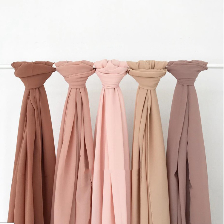 Silk Pleat Hijab Elegant High Quality Crinkle Finish