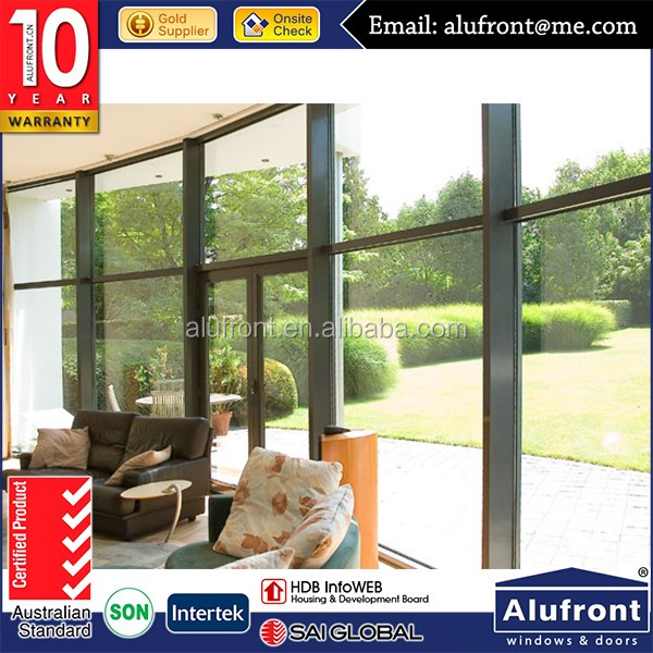 With aluminum profile and safe flynet Glass hinged doors