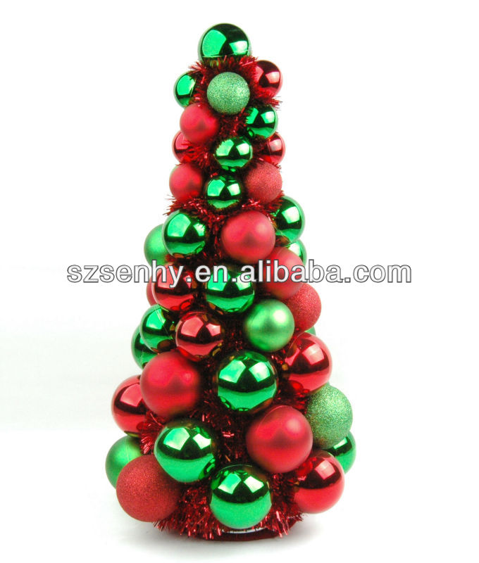 Hand made artificial plastic Christmas ball Tree
