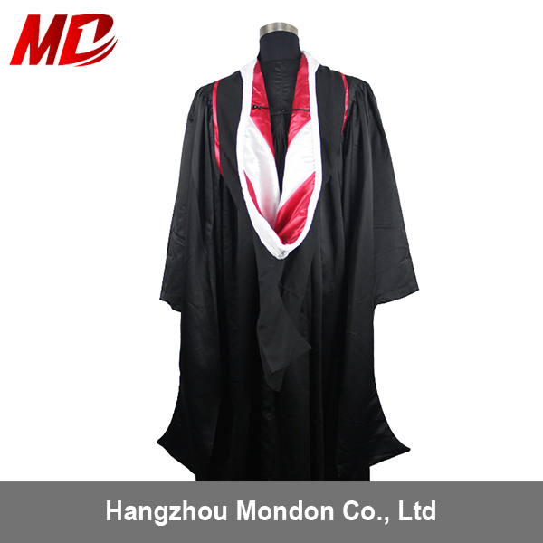 Us Style Master Graduation Gown With Master Hood- Fluted Back - Buy ...