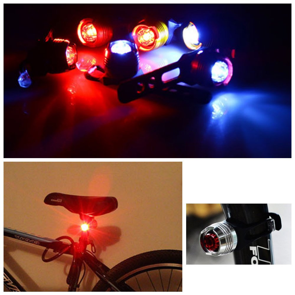 EverTrust(TM) Durable 3 Mode LED Bicycle Light Safety Flashing Bright Bike Rear Light Water-resistant Tail Cycling Bicycle Rear Light