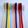 13 Colors Bilateral Eyelet Cotton Lace Trim Crochet Wholesale Water Soluble Lace Trim