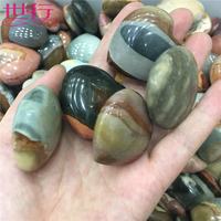 Natural Ocean Jasper Polished Crystal Stones Ocean Jade Raw Stone Hand Palm