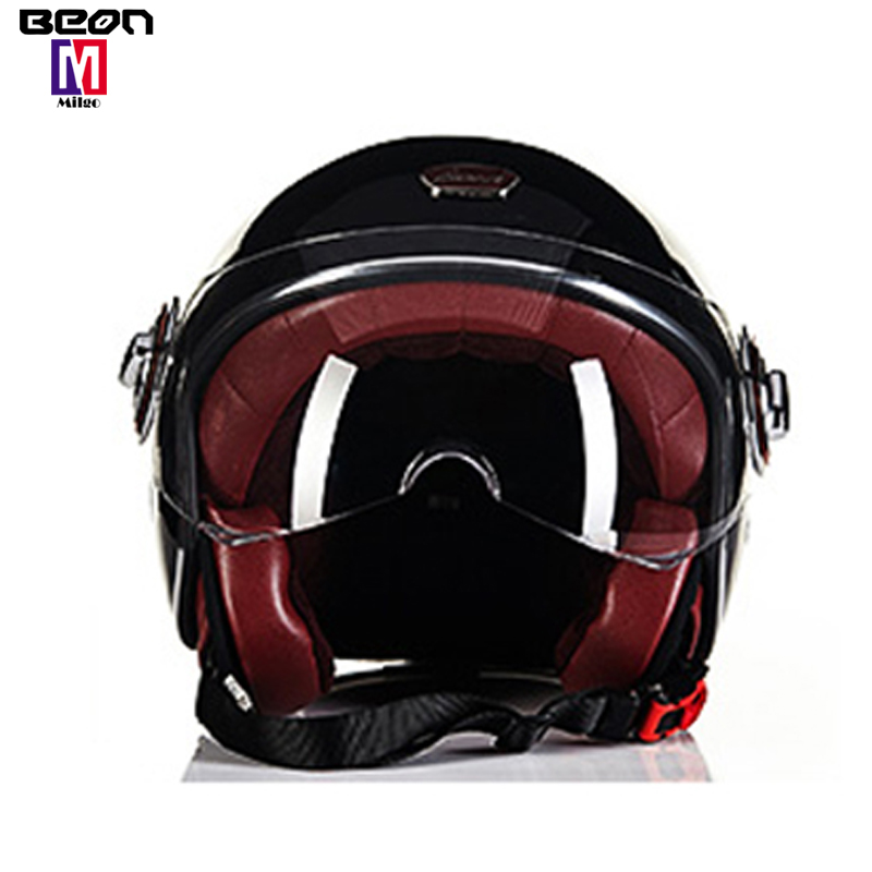 2018 New authentic Dutch BEON retro fashion Fiberglass half face helmet  vintage style motorcycle helmets men and women, View brown motorcycle  helmet,