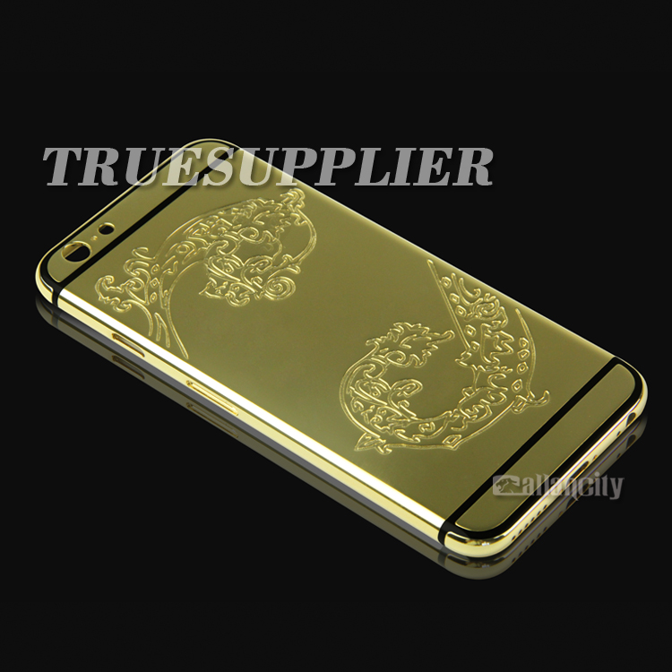 for iphone 6 24k gold plated housing back covers for iphone 6