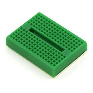 Puuli 2 Pcs/lot ZY-170 Green Mini ABS Plastic Solderless Prototype Plug-in Breadboard Bread Board 170 Points for Arduino Shield, 45.5x34.5x9.5mm