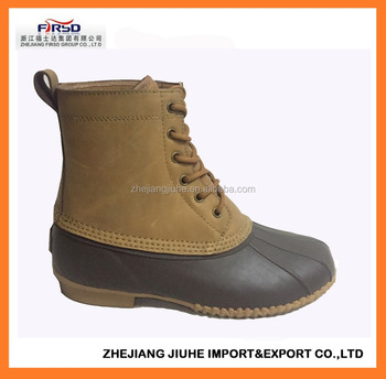 e48537b331a Waterproof Rubber Duck Boot With Leather Upper - Buy Duck Boot,Rubber Duck  Boot,Leather Duck Boot Product on Alibaba.com