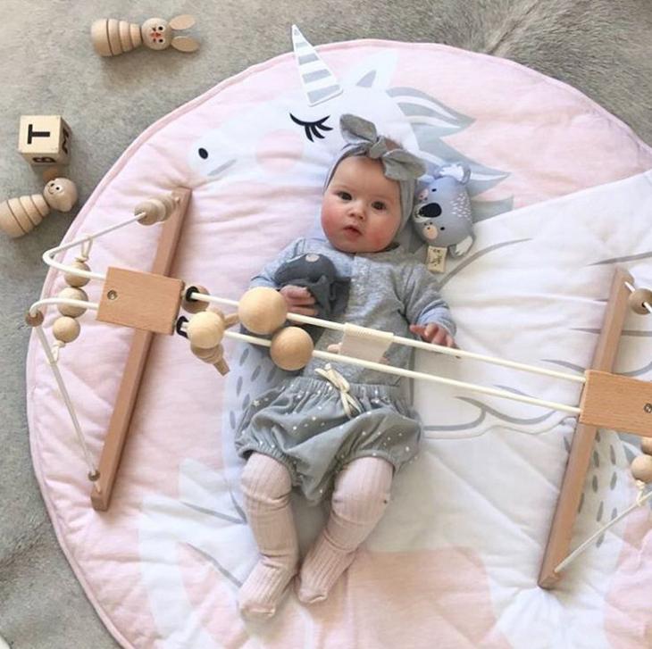 100% Cotton Baby blanket Stuffed unicorns Printed Customized cartoon animal blanket for baby game blanket