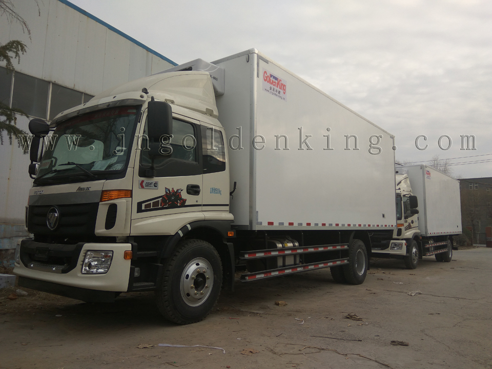 China Supplier Foton 170hp 8-12 Tons Refrigerated Truck Body