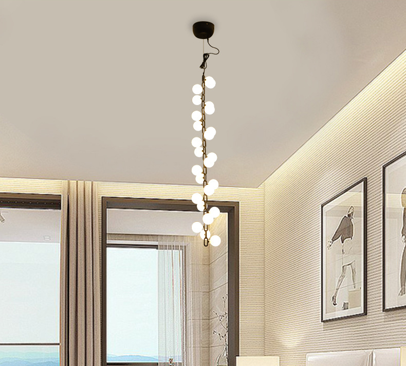 25 lights contemporary Indoor Decoration fancy G9 LED Glass boll chandelier pendant light for hotel