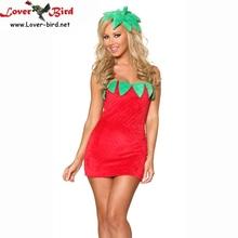 47fc59fbf Cosplay vestido de la señorita Sexy-Fresa traje de Santa Claus de Navidad  para mujeres nuevo traje envío gratis