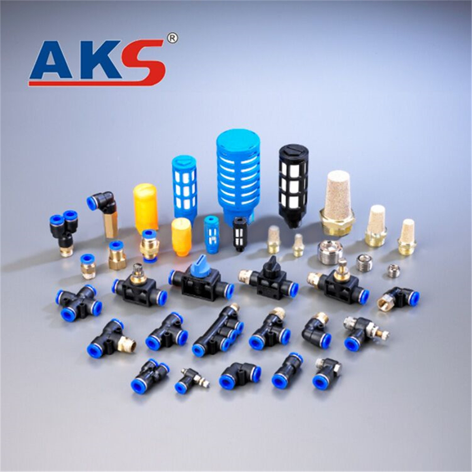 Aangepaste professionele asmv/lsm serie pneumatische connector push quick fittings