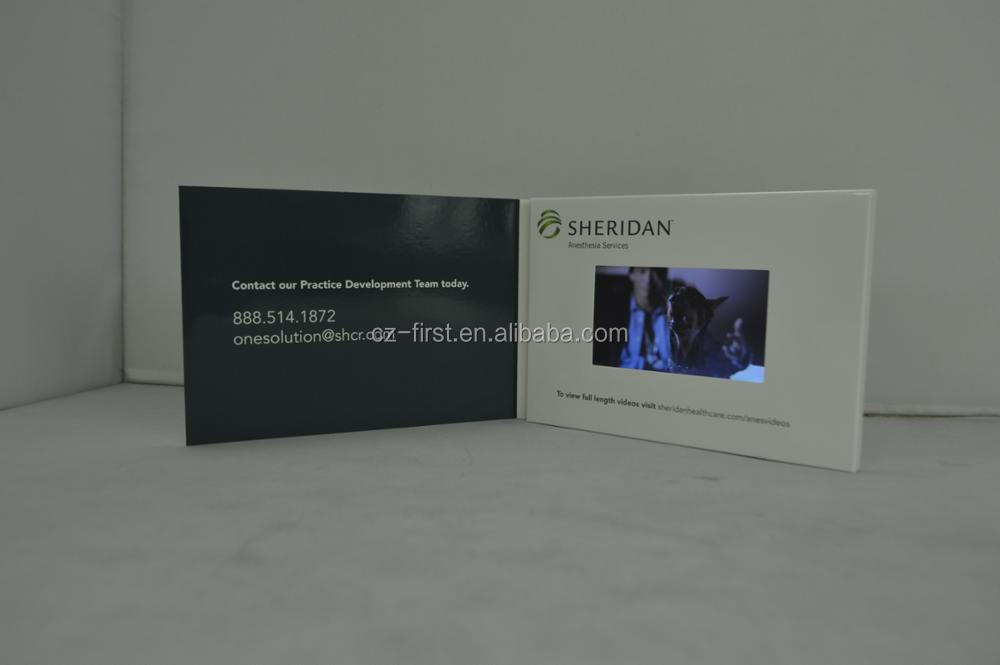 4.3inch Digital business card with lcd Screen