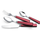 Colorful Plastic Handle Stainless Steel cutlery set silver silverware
