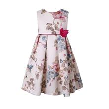 Fatinbaby (2-12y) Dresses for Teenage Girls 2016 Summer Sleeveless Retro Sweet Flower Kids Dresses For Girls Flora Print Dress