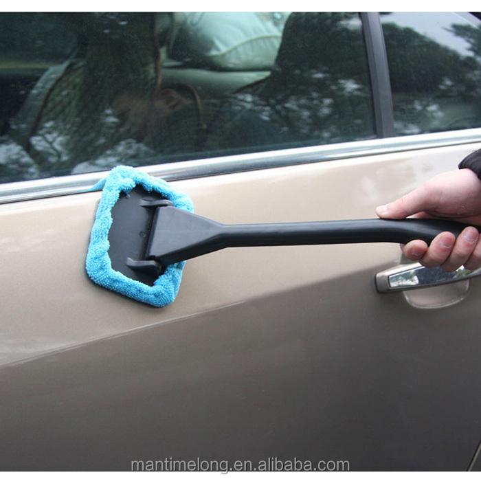 Microfiber Auto Window Cleaner Long Handle Car Wash Brush