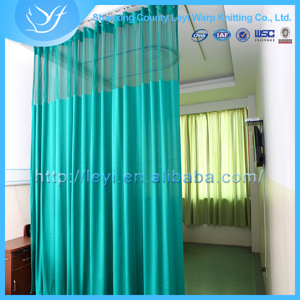 Ly 14 Polyester Green Color Hospital Bed Screen Curtain Privacy