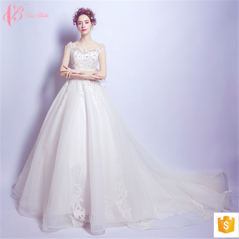 2017 Luxury Latest Ball Gowns Wedding Dresses Beaded China Designs