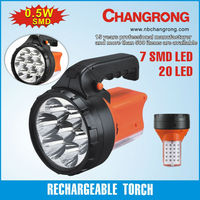 Rechargeable torch light with rotatable handle