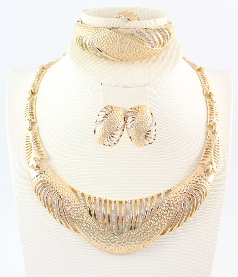 Wholesale Africa Dubai Jewelry Set For Women Gold Plated