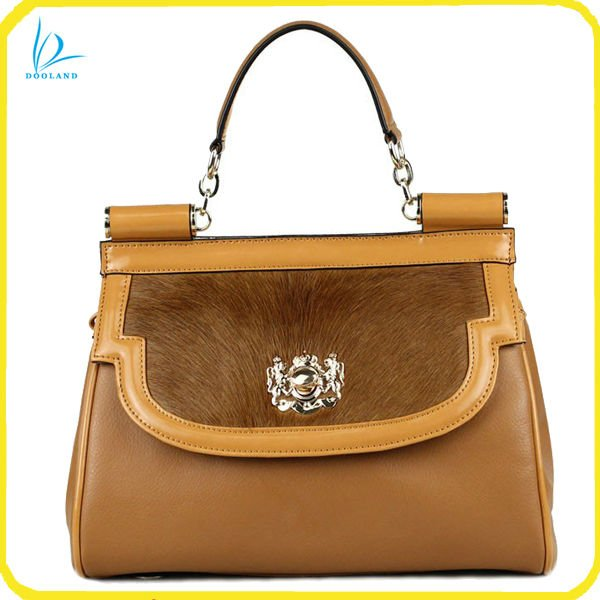 2012 designer lady fashion cowhide hair handbag