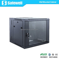 Safewell 6U Double Section Hinged Swing Out Wall Mounted Network Rack