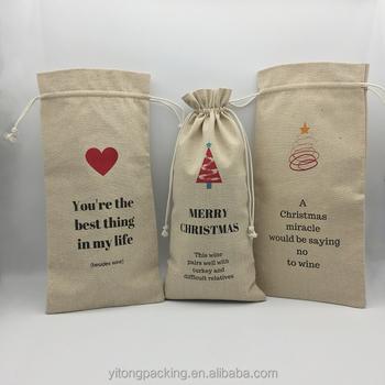 Natural Jute Burlap Wine Bags Whole