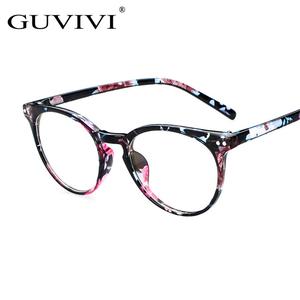 b4e446732e0 GUVIVI Optical Glasses Frame Clear Computer Myopia Prescription Eyeglasses  Womens Vintage Round Eyewear Glasses Frame