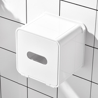 High quality tissue box hotel public toilet paper holder self adhesive wall plastic tissue box