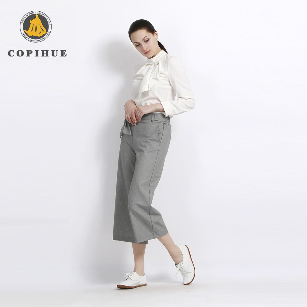 High Quality Anti-Wrinkle Grey Women Pants And Trousers