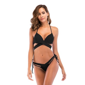 2019 swimwear women sexy bikini girls two pieces breathable swimsuit top quality swimwear lady sexy bikini bandage bathing suit